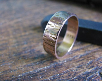 SALE!! 20% off 14k Gold Tree Bark Band! Was 495.