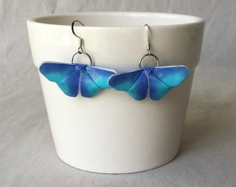 Blue Origami Butterfly Earrings~Butterfly Jewelry~Birthday Gift~Butterfly Lover~Mother's Day Gift~Stocking Stuffers~Gifts for Her~Tween Gift
