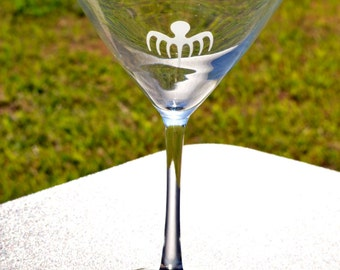 Etched 007 Spectre James bond martini glass by Jackglass on Etsy