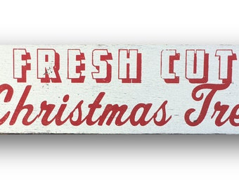 Fresh Cut Christmas Trees 7 x 26- White background
