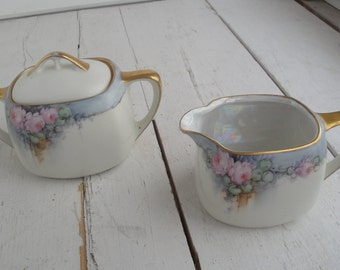 Vintage Tillowitz Cream and Sugar Set Silesia