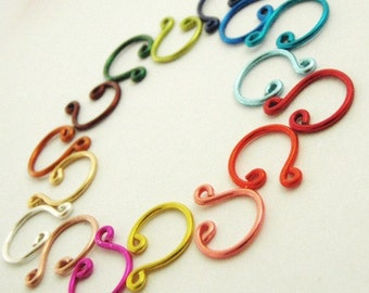 10 Simple Nose Fakers in BRIGHT and FUN Colors - Nose Jewelry For Noses With Just Two Holes