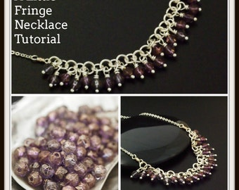 A Little Fringe Necklace Tutorial