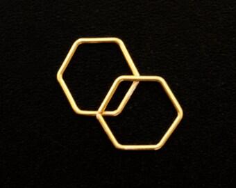 1 Honeycomb Hoop in Sterling Silver, 14kt Gold Filled, 14kt Rose Gold Filled -  20 gauge 11mm ID