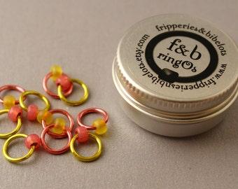 ringOs Battenburg ~ Snag Free Ring Stitch Markers for Knitting