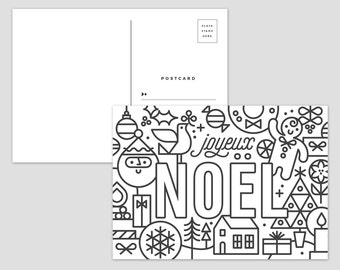 Color Me Holiday Postcards