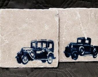 Vintage Car Beverage Coasters
