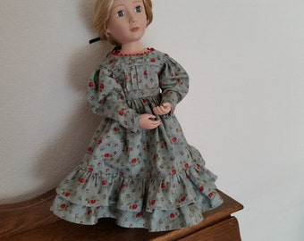 Regency Style Dress for 16 inch Doll