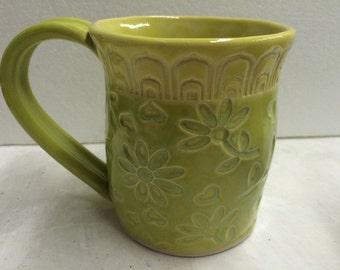 Bright Green and Yellow Texture Mug