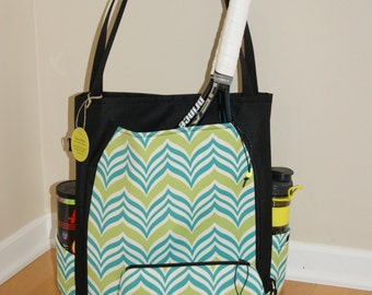 Large Tennis Bag- Made from vinyl Canvas + small Accessory Bag.