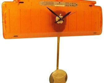 Apple Computer iMac Pendulum Clock from Recycled Keyboard. Cool Tangerine Stuff.