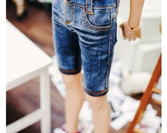 SD13 Boy Washing Slim short pants -blue