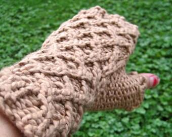 Organic Cotton Fingerless Mitts