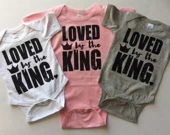 Loved by the King Bodysuit - Available in various colors and Sizes