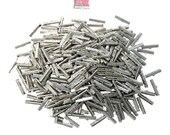 500 pcs. - 30mm or 1 3/16 inch Platinum Silver Ribbon Clamps - Artisan Series