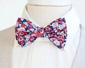 Bow Tie, Mens Bow Tie, Bowtie, Bowties, Bow Ties, Bowties, Floral Bow Tie, Groomsmen Bow Ties, Wedding Bow Ties, Ties - Gardens In Americana