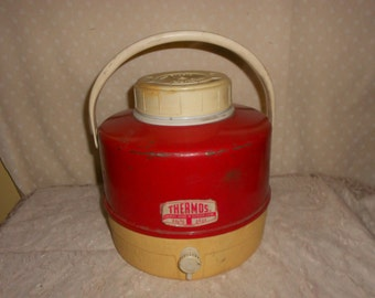 Thermos Picnic Jug Red One Gallon with red inner plug