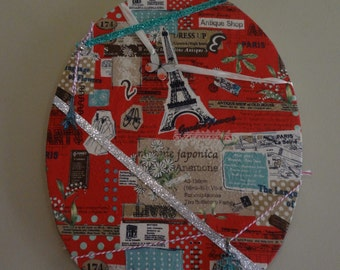 Embellished Paris Wall Canvas
