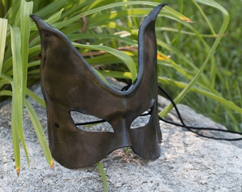 Black Cat Leather Mask