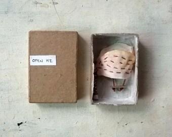 tree and seesaw matchbox diorama - matchbox art - original art - home decor - Open me series