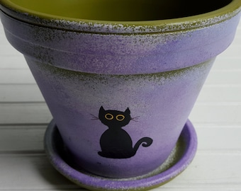 Pet Sympathy Gift - Painted Flower Pot - Pet Memorial Gift - Dog Memorial Gift - Large Planter - Cat Memorial Gift - Pet Memorial Gift