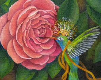 Hummingbird King (Original painting SOLD) - Print available