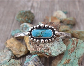 Arizona Turquoise and Sterling Silver Handmade Cuff Bracelet
