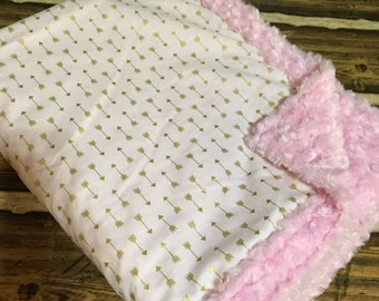 Minky Baby Blanket YOU pick fabrics