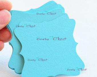 "72 Square Bracket IV Tags Size 2.50"" -Square Bracket die cuts -Cardstock Bracket tags -Paper Labels -Paper tags -Custom die cuts"
