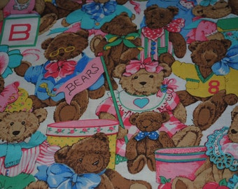 Teddy Bears Cotton Remnant