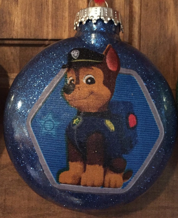 Chase Paw Patrol Christmas ornament