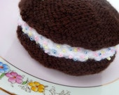 hand knitted large Whoopie pie