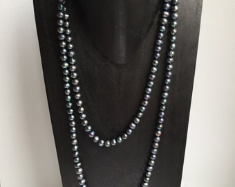 CLEARANCE SALE - Black Pearl Necklace    (No. 3)