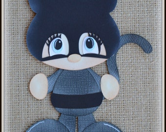 Catwoman Super Hero Premade Scrapbooking Embellishment Paper Piecing