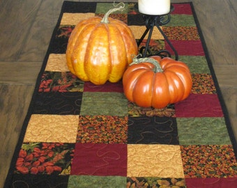 SALE Fall Leaves Quilted Table Runner