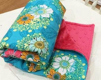 "Minky Baby Blanket 30x35"" Mystic Aura Sky - Rhapsodia - Pat Bravo for Art Gallery Fabrics"