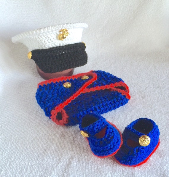 Patriotic Outfit Baby Boy Marine Clothes by babypropsbyconnie