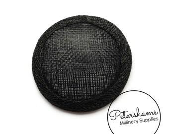 Mini 6.5cm Sinamay Hat Base for Fascinators & Millinery - Black