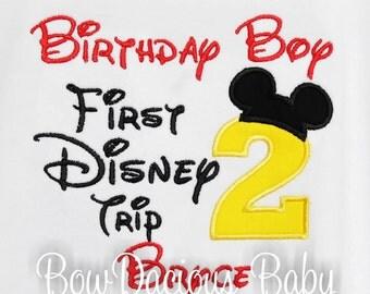 My First Disney Trip Shirt, Birthday Shirt, 1st Disney Trip, Custom Disney Shirt, Any Age, Custom Colors, Personalized Birthday Shirt