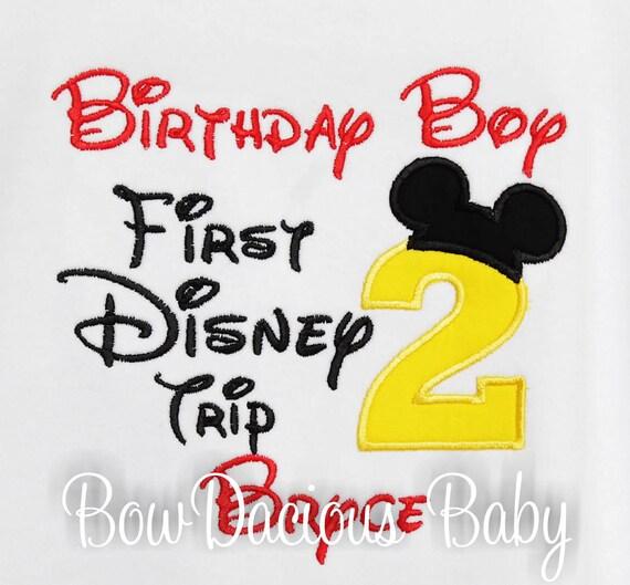 My First Disney Trip Shirt Birthday Shirt 1st Disney Trip