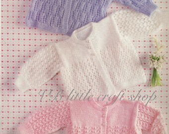 Baby's matinee coat knitting pattern. Instant PDF download!
