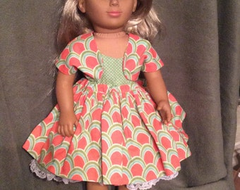 """Sweet Dress and Jacket for American Girl and Other 18"""" Dolls"""