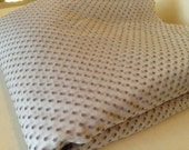 """Vintage Dotted Swiss Dot Fabric Sheer White and Lavendar Purple 6 yards by 48"""""""