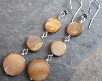 Mother of Pearl earrings - Bohemian style jewelry