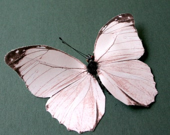 2 Large Light Pink Fabric Butterflies for Hair Pins, Favors, Wedding Cakes