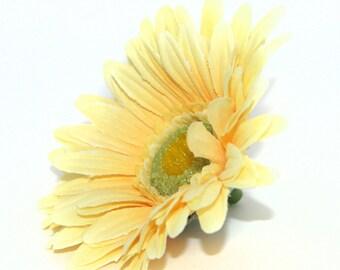 Yellow Gerbera Daisy - Artificial Flowers, Silk Flower Heads - PRE-ORDER