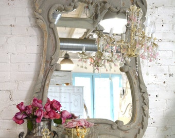 Painted Cottage Chic Shabby Romantic French Mirror