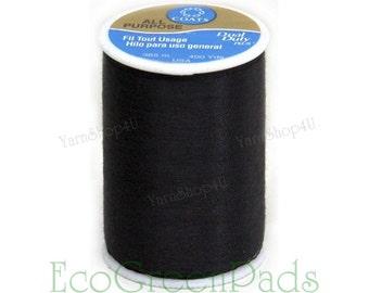 1+ Spool Black Thread. 400 yards (365m) Coats and Clark Dual Duty black sewing thread. All purpose thread, Coats Clark 230A-2 Economy thread