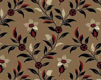 Windham Cocoa Medium Floral Vine Fabric by the yard H1541039-2