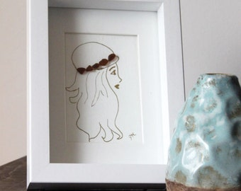 Girl Sea Glass Art
